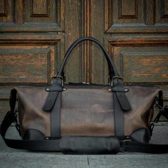 Спортивная кожаная сумка, Большая дорожная сумка