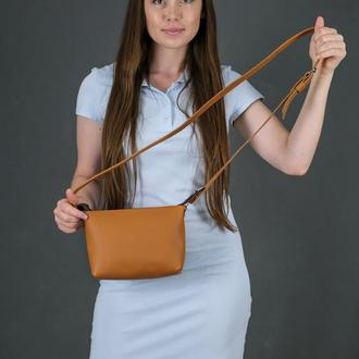 Женская кожаная сумочка Лето, кожа Grand, цвет  янтарь
