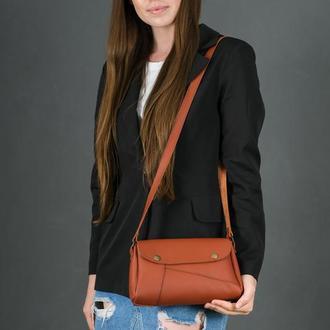 Кожаная женская сумочка Френки, кожа Grand, цвет коньяк