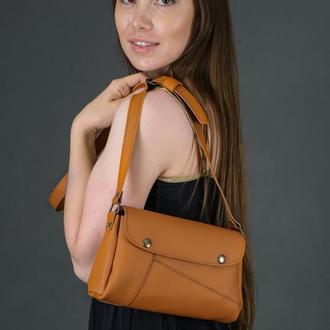 Шкіряна жіноча сумочка Френкі, шкіра Grand, колір бурштин