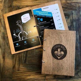 Деревянные планшеты меню для кафе и баров