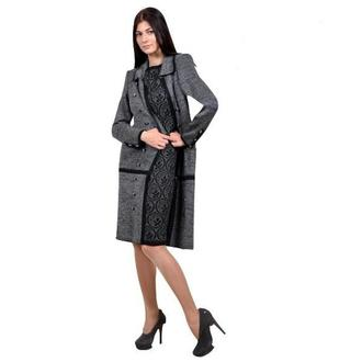 Вязаное пальто.