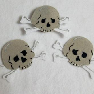 Нашивка череп на карнавальный костюм пирата, кощея