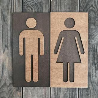 Табличка для туалета WC