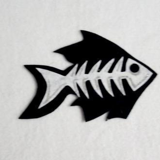 Нашивка с фетра рыба для карнавального костюма кота