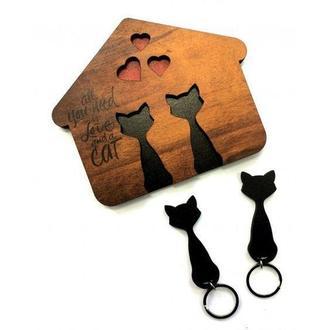Ключница с котами