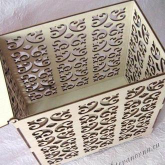 Свадебная шкатулка для денег из дерева