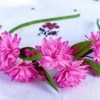 Обідок з рожевими зефірками