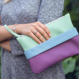 """Сиреневый клатч - сумочка через плечо """"CarryMe""""."""
