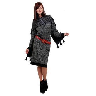 Вязанный комплект (платье, шарф).