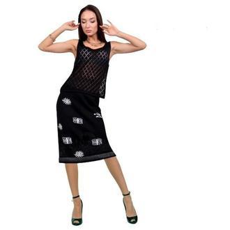 Трикотажный комплект (юбка, майка).