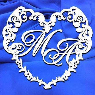Свадебная монограмма, вензель, свадебный герб, семейный герб 20