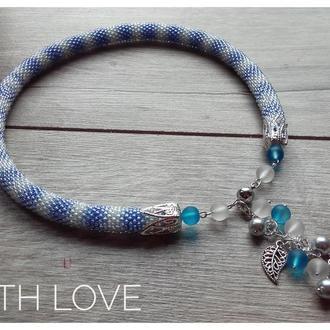 Меланжово-голубой з подвеской