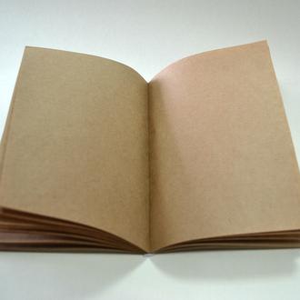 Блокнот. Блок из крафт-бумаги для создания блокнота 80 листов с форзацем из крафт картона