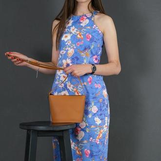 Шкіряна жіноча сумочка Елліс, шкіра Grand, колір бурштин