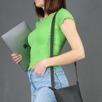 Шкіряна жіноча сумочка Елліс, шкіра Grand, колір шоколад