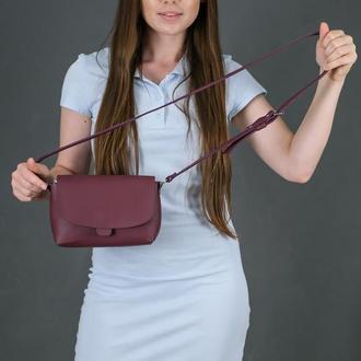 Кожаная женская сумочка Итальяночка, кожа Grand, цвет бордо