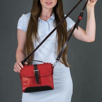 Женская сумочка Марта, Кожа Итальянский краст, цвет красный