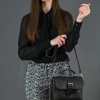 Женская сумочка Марта, Винтажная кожа, цвет шоколад