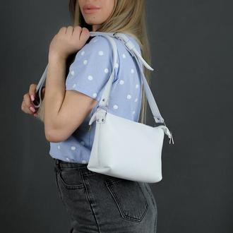 Женская сумочка Лето, гладкая кожа, цвет белый