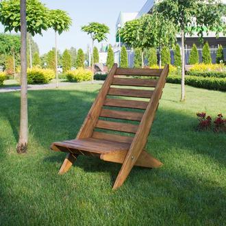 Садовое кресло деревянное, шезлонг, садовая мебель