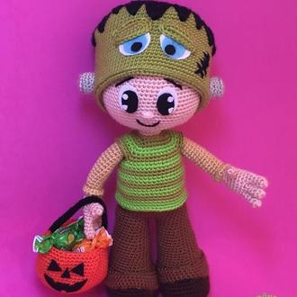 кукла Мальчик в костюме Франкенштейна