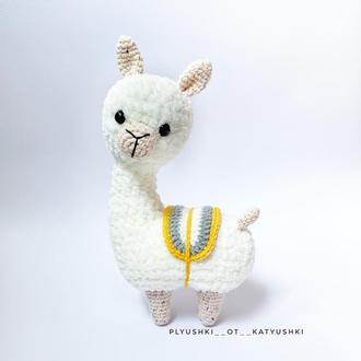 Вязаная Альпака,вязаная лама,плюшевая игрушка