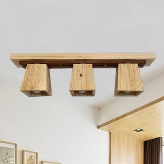 Светильник потолочный деревянный. Люстра для детской, кухни, гостинной