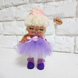 Авторская кукла Хохотушка Текстильная кукла с нарисованным лицом