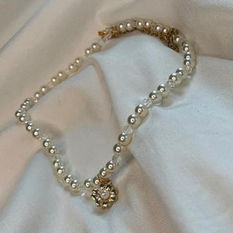 Ожерелье из жемчуга . Свадебное ожерелье .