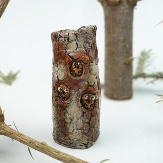 Статуэтка совы в дереве