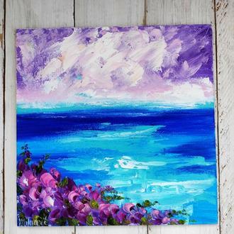 Картина Море цветы