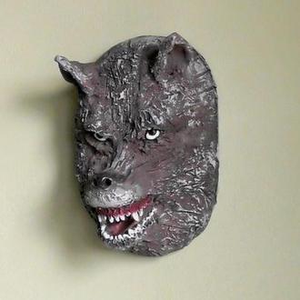 Волк маска керамическая
