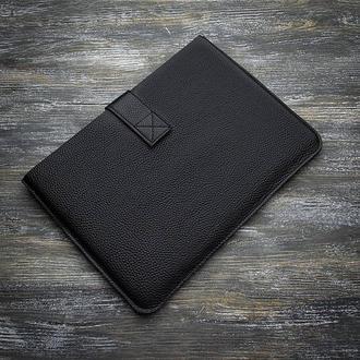 Черный кожаный чехол для планшета IPad ноутбук MacBook