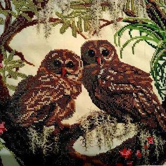 Картина бисером Мудрые совы