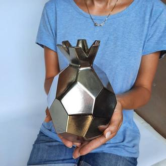 Ваза для квітів. Срібна ваза. Керамічний декор ручної роботи. Гранат