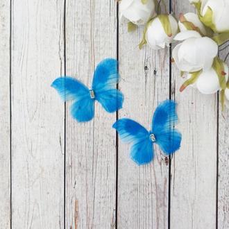 Бабочки шифоновые двухслойные. 2 шт