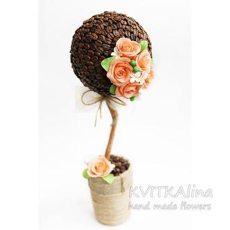 Топиарий кофейный Розы с ароматом кофе