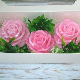 """Сувенирное мыло: набор """"Розы"""" в коробке"""