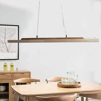 Світильник LED підвісний лінійний світлодіодний стельовий дерев'яний