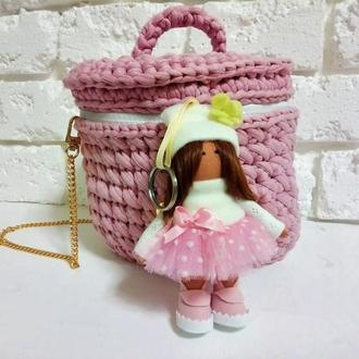 Женский брелок кукла для сумочки на ключи Авто Брелок Автоподвеска