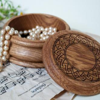 Маленькая разная деревянная шкатулка для украшений с лазерной гравировкой и возможностью персонализа