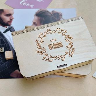 Коробка для фотографий с именной гравировкой
