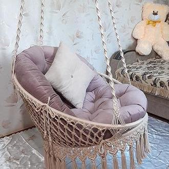 Макраме кресло-гамак