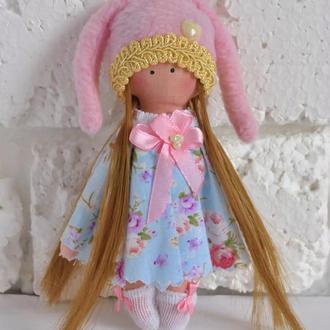 Кукла  Зайка Куколка из ткани Текстильная игрушка
