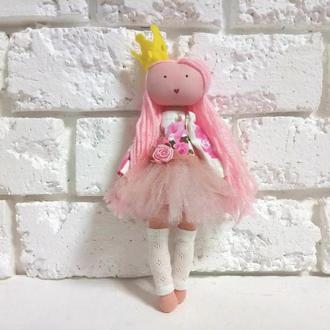 Кукла тильда Принцесса Розалия авторская куколка текстильная Балерина