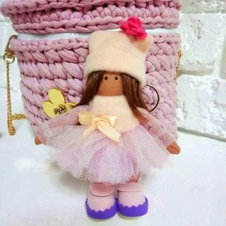 Женский брелок мини кукла Стильный аксессуар на сумку