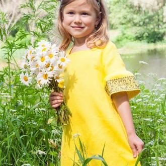 Вышитое платье для девочки ДП22-253