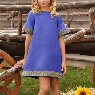 Вышитое платье для девочки ДП22-293