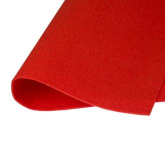 Фетр корейский жесткий 1.2мм, 20х30см, №3 Красный